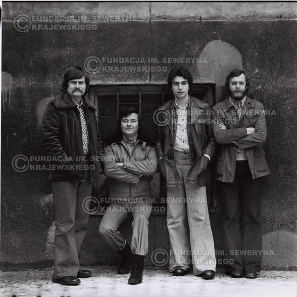 # 1065 - 1975r. Od lewej: Ryszard Kaczmarek, Bernard Dornowski, Seweryn Krajewski, Jerzy Skrzypczyk