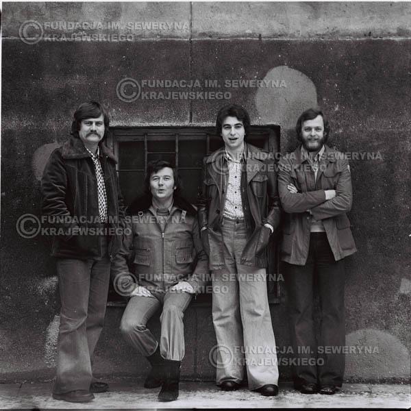 # 1068 - 1975r. Od lewej: Ryszard Kaczmarek, Bernard Dornowski, Seweryn Krajewski, Jerzy Skrzypczyk