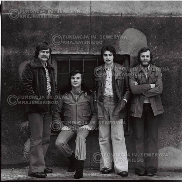 # 1069 - 1975r. Od lewej: Ryszard Kaczmarek, Bernard Dornowski, Seweryn Krajewski, Jerzy Skrzypczyk
