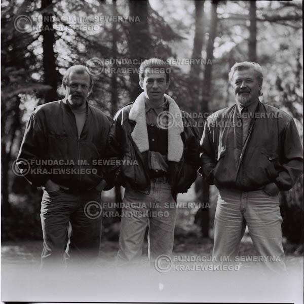 # 1091 - Czerwone Gitary w składzie: Seweryn Krajewski, Jerzy Skrzypczyk, Bernard Dornowski. 1991r. sesja zdjęciowa w Michalinie.