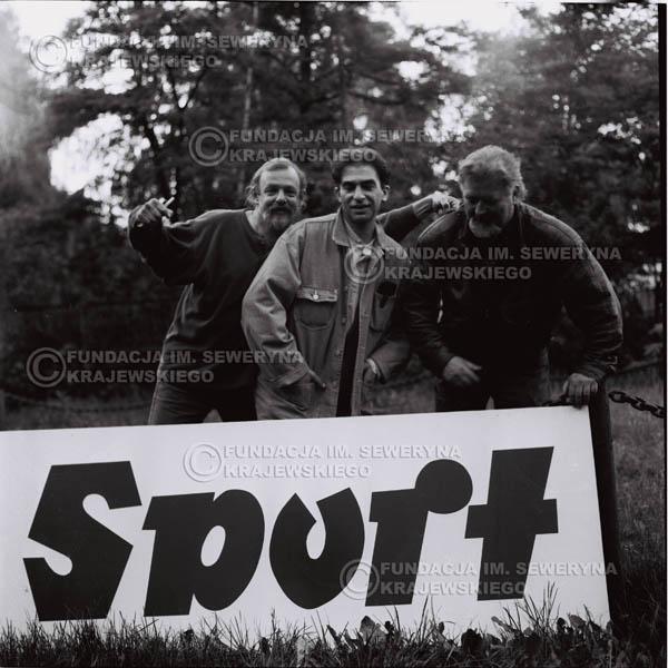 # 1120 - 1991r. come back Czerwonych Gitar, od lewej : Jerzy Skrzypczyk, Seweryn Krajewski, Bernard Dornowski.