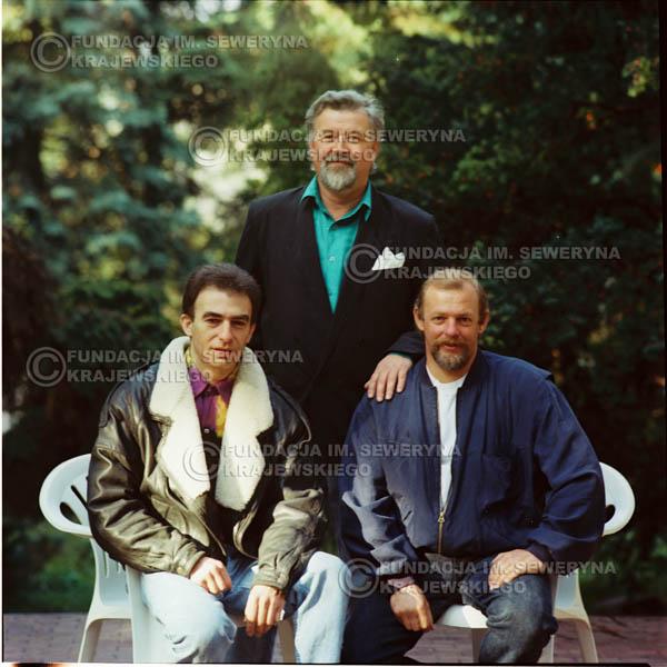 # 1150 - 1991r. sesja zdjęciowa w Michalinie, come back Czerwonych Gitar w składzie: Seweryn Krajewski, Bernard Dornowski, Jerzy Skrzypczyk
