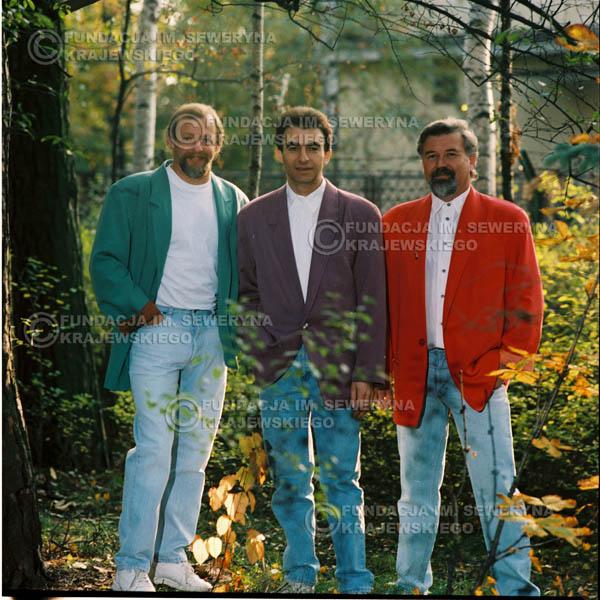 # 1153 - 1991r. sesja zdjęciowa w Michalinie, come back Czerwonych Gitar w składzie: Seweryn Krajewski, Bernard Dornowski, Jerzy Skrzypczyk