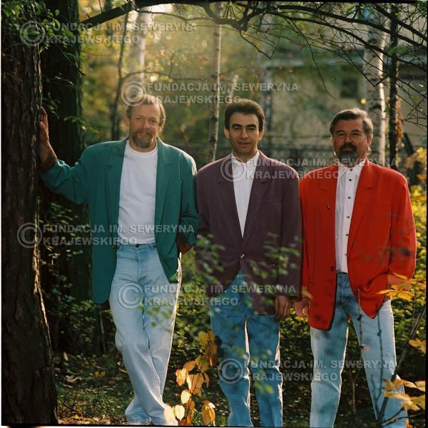 # 1155 - 1991r. sesja zdjęciowa w Michalinie, come back Czerwonych Gitar w składzie: Seweryn Krajewski, Bernard Dornowski, Jerzy Skrzypczyk