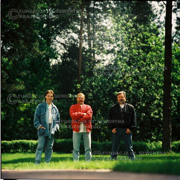 # 1158 - 1991r. sesja zdjęciowa w Michalinie, come back Czerwonych Gitar w składzie: Seweryn Krajewski, Bernard Dornowski, Jerzy Skrzypczyk