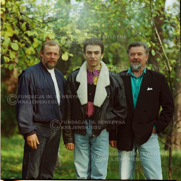 # 1162 - 1991r. sesja zdjęciowa w Michalinie, come back Czerwonych Gitar w składzie: Seweryn Krajewski, Bernard Dornowski, Jerzy Skrzypczyk