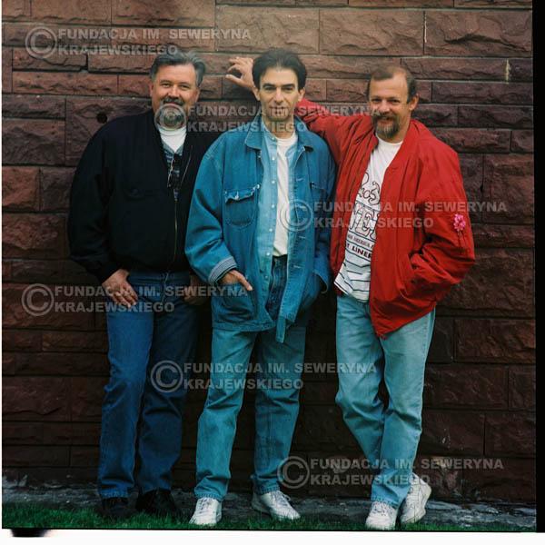 # 1188 - 1991r. sesja zdjęciowa w Michalinie, come back Czerwonych Gitar w składzie: Seweryn Krajewski, Jerzy Skrzypczyk, Bernard Dornowski.
