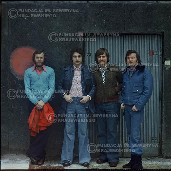 # 1201 - 1975r. od lewej: Jerzy Skrzypczyk, Seweryn Krajewski, Ryszard Kaczmarek, Bernard Dornowski.