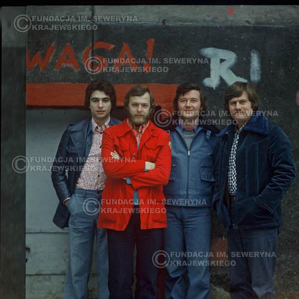 # 1202 - 1975r. od lewej: Seweryn Krajewski, Jerzy Skrzypczyk, Bernard Dornowski, Ryszard Kaczmarek.