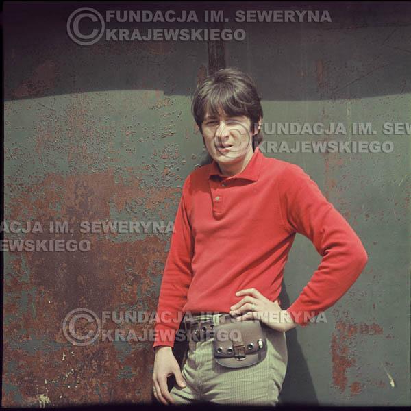 # 341 - Krzysztof Klenczon, Łódź, sesja do płyty pt: 'Czerwone Gitary 3' 1967r