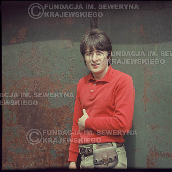 # 342 - Krzysztof Klenczon, Łódź, sesja do płyty pt: 'Czerwone Gitary 3' 1967r