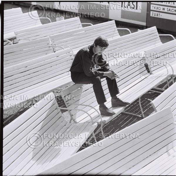 # 391 - Seweryn Krajewski, 1967r. sesja w Sopocie (zdjęcia dla fanów do autografów)