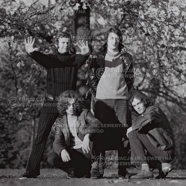 # 506 - 'Trzy Korony' 1970r - Od lewej:  Ryszard Klenczon, Grzegorz Andrian, Krzysztof Klenczon, Piotr Stajkowski.