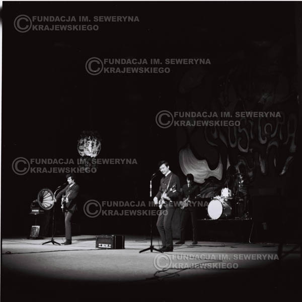 # 543 - 1968r kwiecień,  Musicorama (powstała z inicjatywy Franciszka Walickiego) Sala Kongresowa w Pałacu Kultury i Nauki w Warszawie - 'Czerwone Gitary'.