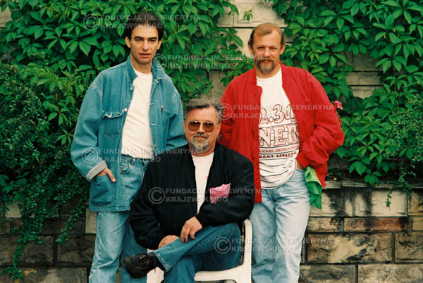 # 897 - 1991r. sesja zdjęciowa w Michalinie, Czerwone Gitary w składzie (come back):Seweryn Krajewski, Bernard Dornowski, Jerzy Skrzypczyk