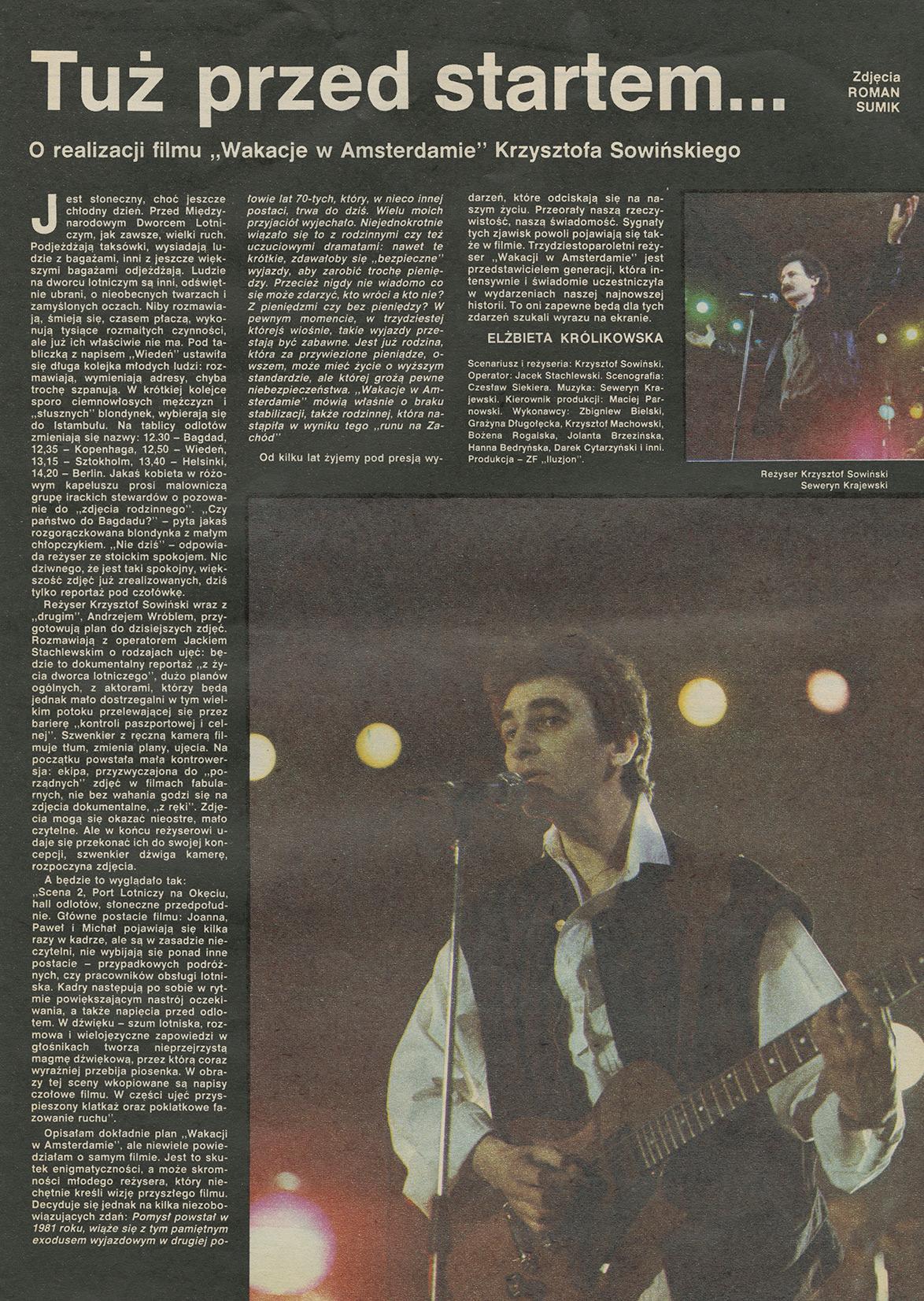 1979-1990_Film_1985_Produkcja_filmu_wakacje_w_amsterdamie_SK_skomponowal_muzyke