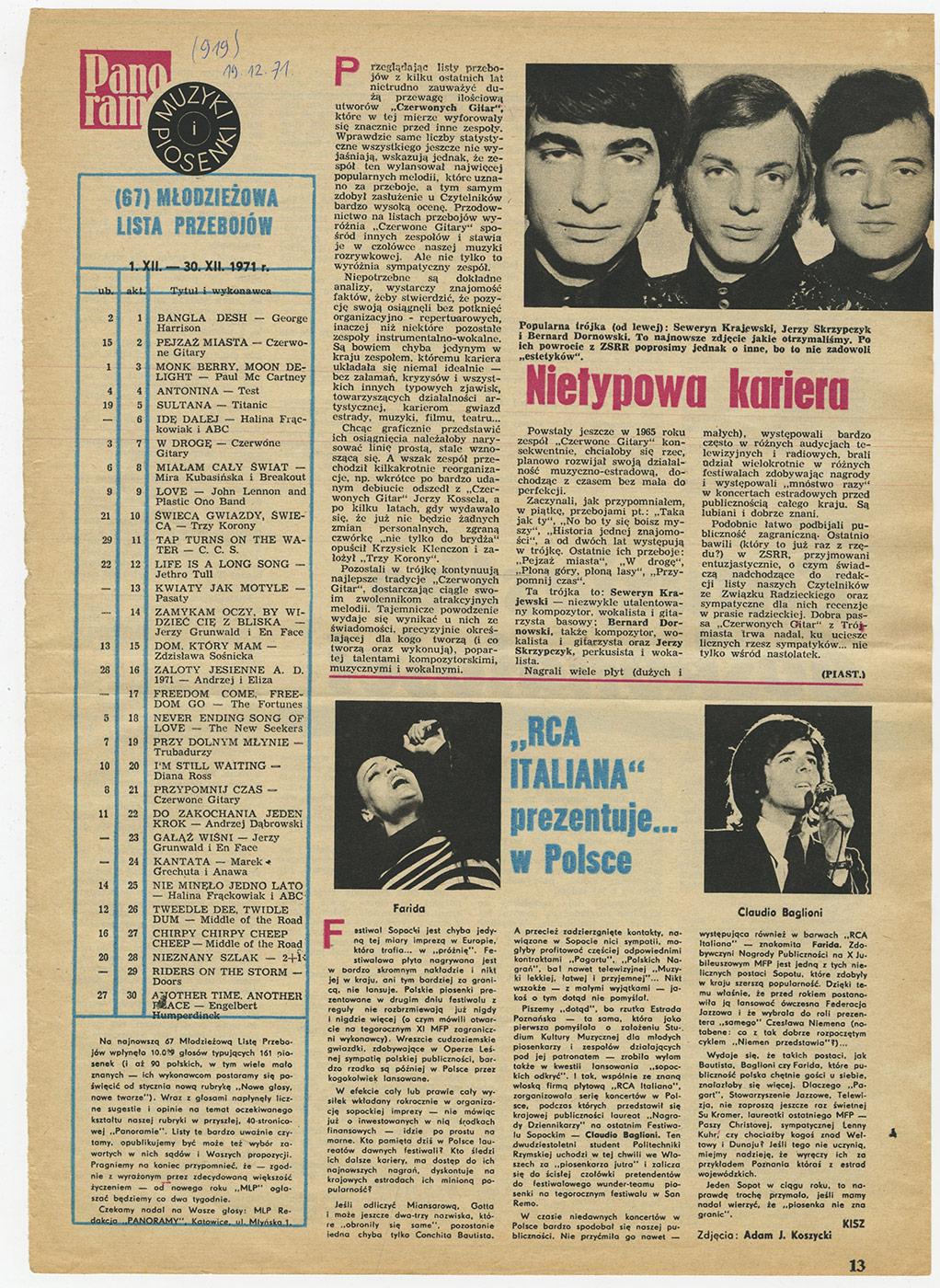1969-1978_Panorama_1971_nietypowa_kariera
