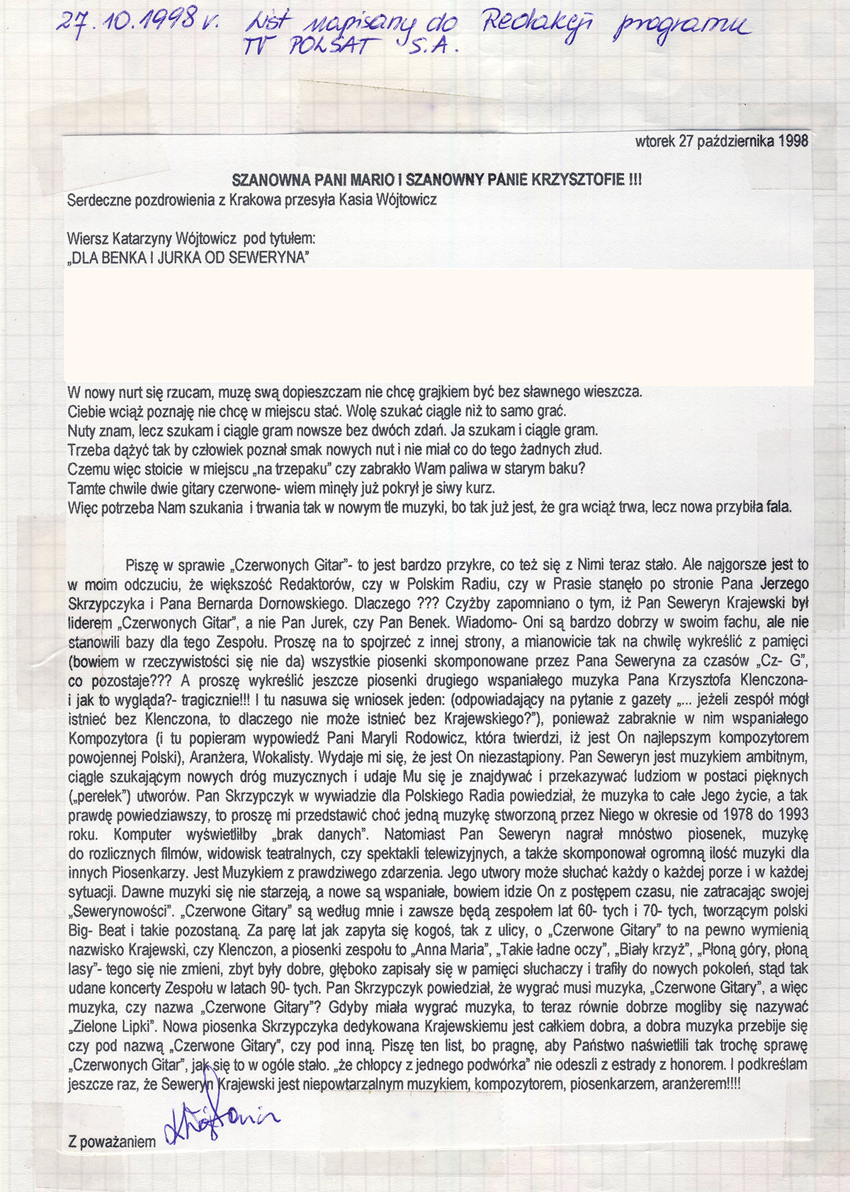 List_otwarty_TV_Polsat_1998