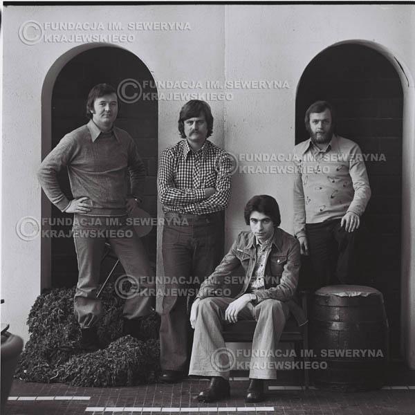 # 1061 - 1975r. Od lewej: Ryszard Kaczmarek, Bernard Dornowski, Seweryn Krajewski, Jerzy Skrzypczyk