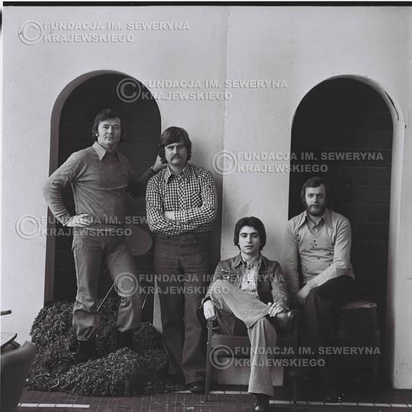 # 1062 - 1975r. Od lewej: Ryszard Kaczmarek, Bernard Dornowski, Seweryn Krajewski, Jerzy Skrzypczyk