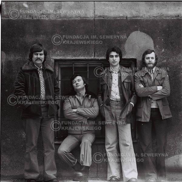 # 1064 - 1975r. Od lewej: Ryszard Kaczmarek, Bernard Dornowski, Seweryn Krajewski, Jerzy Skrzypczyk