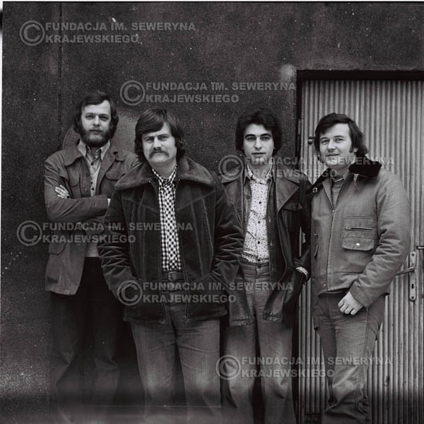 # 1074 - 1975r. od lewej: Jerzy Skrzypczyk, Ryszard Kaczmarek, Seweryn Krajewski, Bernard Dornowski