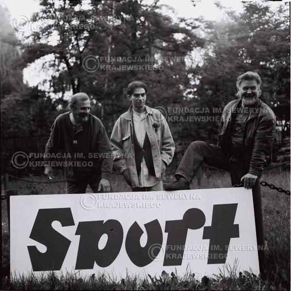 # 1118 - 1991r. come back Czerwonych Gitar, od lewej : Jerzy Skrzypczyk, Seweryn Krajewski, Bernard Dornowski.