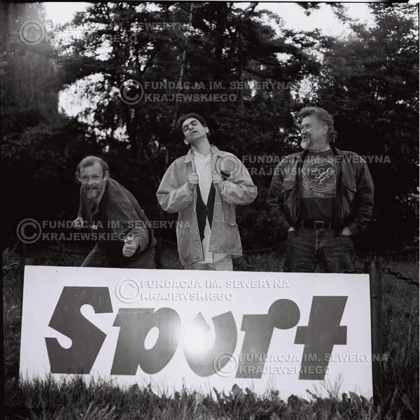 # 1119 - 1991r. come back Czerwonych Gitar, od lewej : Jerzy Skrzypczyk, Seweryn Krajewski, Bernard Dornowski.