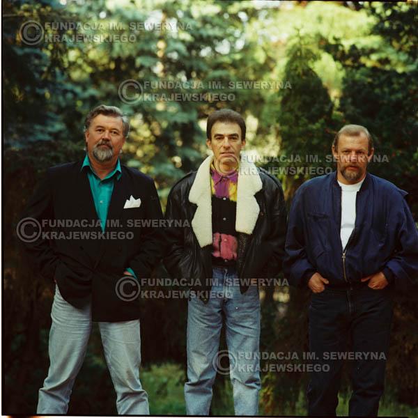 # 1149 - 1991r. sesja zdjęciowa w Michalinie, come back Czerwonych Gitar w składzie: Seweryn Krajewski, Bernard Dornowski, Jerzy Skrzypczyk