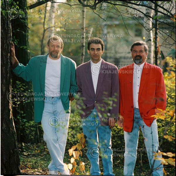 # 1154 - 1991r. sesja zdjęciowa w Michalinie, come back Czerwonych Gitar w składzie: Seweryn Krajewski, Bernard Dornowski, Jerzy Skrzypczyk