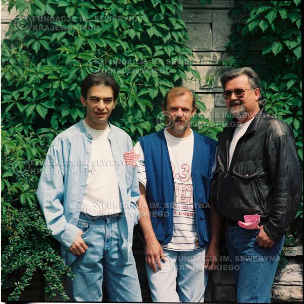 # 1164 - 1991r. sesja zdjęciowa w Michalinie, come back Czerwonych Gitar w składzie: Seweryn Krajewski, Bernard Dornowski, Jerzy Skrzypczyk