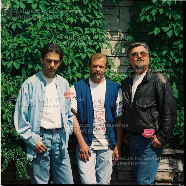 # 1165 - 1991r. sesja zdjęciowa w Michalinie, come back Czerwonych Gitar w składzie: Seweryn Krajewski, Bernard Dornowski, Jerzy Skrzypczyk