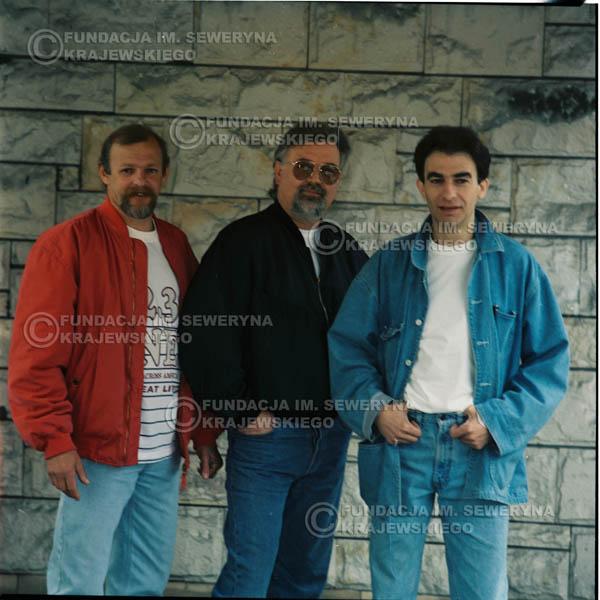 # 1177 - 1991r. sesja zdjęciowa w Michalinie, come back Czerwonych Gitar w składzie: Seweryn Krajewski, Jerzy Skrzypczyk, Bernard Dornowski.