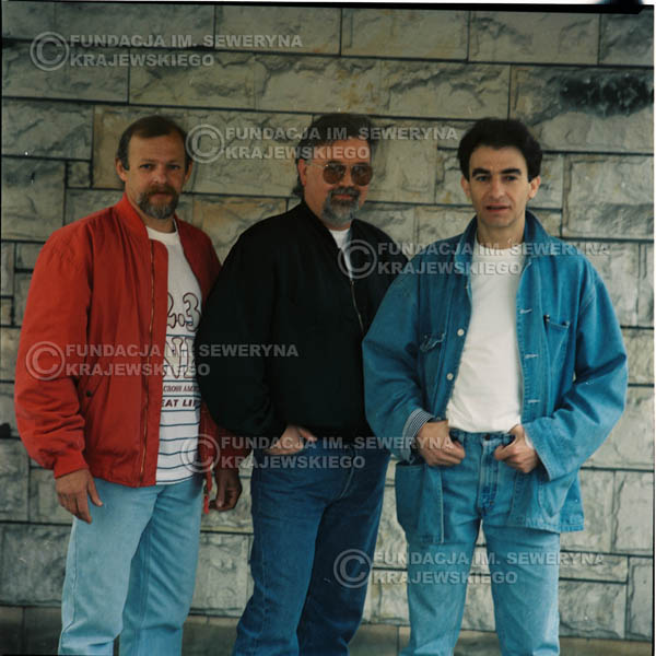 # 1178 - 1991r. sesja zdjęciowa w Michalinie, come back Czerwonych Gitar w składzie: Seweryn Krajewski, Jerzy Skrzypczyk, Bernard Dornowski.