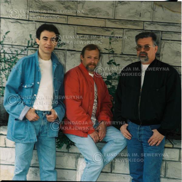 # 1179 - 1991r. sesja zdjęciowa w Michalinie, come back Czerwonych Gitar w składzie: Seweryn Krajewski, Jerzy Skrzypczyk, Bernard Dornowski.