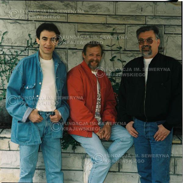 # 1180 - 1991r. sesja zdjęciowa w Michalinie, come back Czerwonych Gitar w składzie: Seweryn Krajewski, Jerzy Skrzypczyk, Bernard Dornowski.