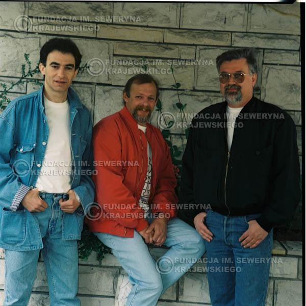 # 1181 - 1991r. sesja zdjęciowa w Michalinie, come back Czerwonych Gitar w składzie: Seweryn Krajewski, Jerzy Skrzypczyk, Bernard Dornowski.