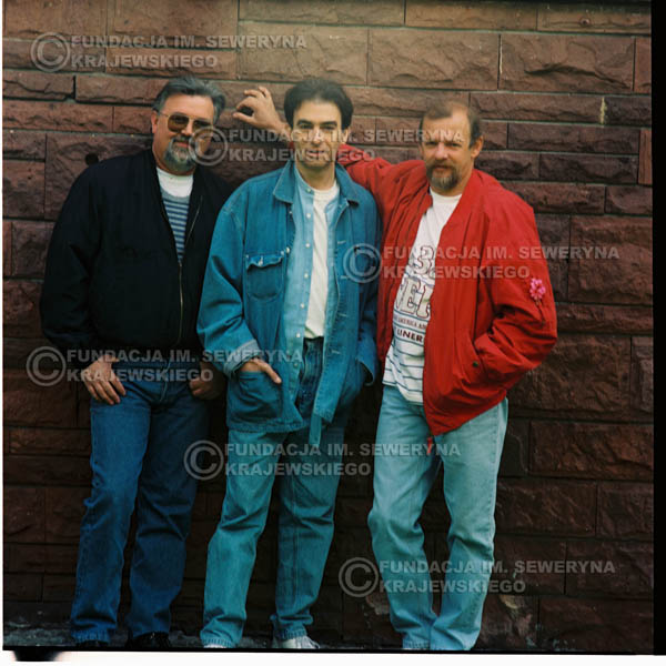 # 1186 - 1991r. sesja zdjęciowa w Michalinie, come back Czerwonych Gitar w składzie: Seweryn Krajewski, Jerzy Skrzypczyk, Bernard Dornowski.