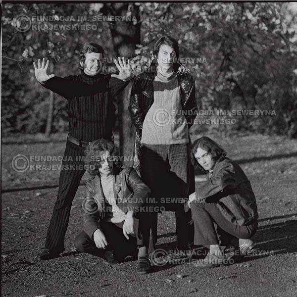 # 505 - 'Trzy Korony' 1970r - Od lewej:  Ryszard Klenczon, Grzegorz Andrian, Krzysztof Klenczon, Piotr Stajkowski.