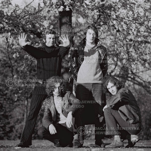 # 507 - 'Trzy Korony' 1970r - Od lewej:  Ryszard Klenczon, Grzegorz Andrian, Krzysztof Klenczon, Piotr Stajkowski.