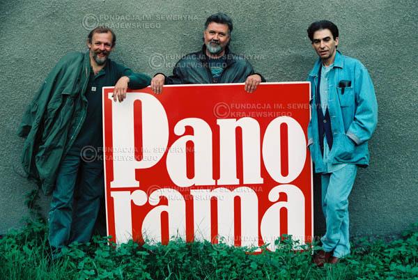 # 885 - 1991r. Od lewej: Jerzy Skrzypczyk, Bernard Dornowski, Seweryn Krajewski