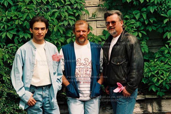 # 891 - 1991r. sesja zdjęciowa w Michalinie, Czerwone Gitary w składzie (come back):Seweryn Krajewski, Bernard Dornowski, Jerzy Skrzypczyk