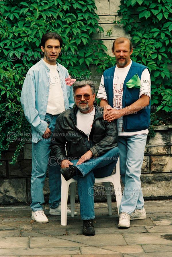 # 893 - 1991r. sesja zdjęciowa w Michalinie, Czerwone Gitary w składzie (come back):Seweryn Krajewski, Bernard Dornowski, Jerzy Skrzypczyk