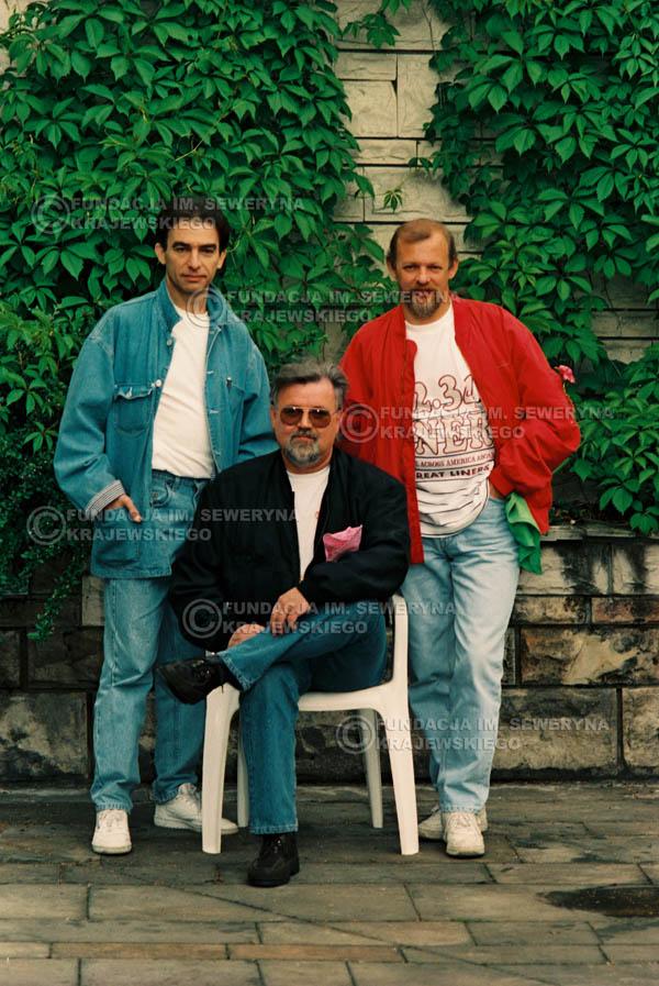 # 895 - 1991r. sesja zdjęciowa w Michalinie, Czerwone Gitary w składzie (come back):Seweryn Krajewski, Bernard Dornowski, Jerzy Skrzypczyk