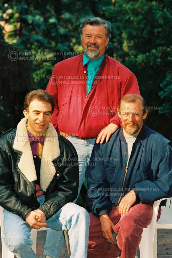 # 934 - 1991r. sesja zdjęciowa w Michalinie, Czerwone Gitary w składzie: Seweryn Krajewski, Bernard Dornowski, Jerzy Skrzypczyk